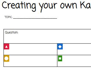 Create your own Kahoot