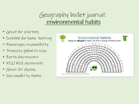 Geography & environment  bullet journal (earth day)
