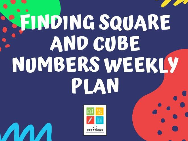 Finding square and cube numbers weekly plan