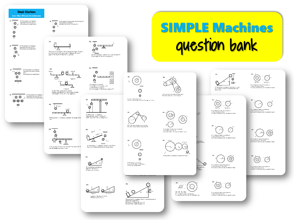 Simple MACHINES – Question Bank