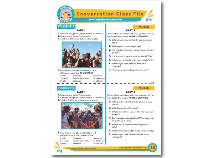 Music - ESL Conversation Activity