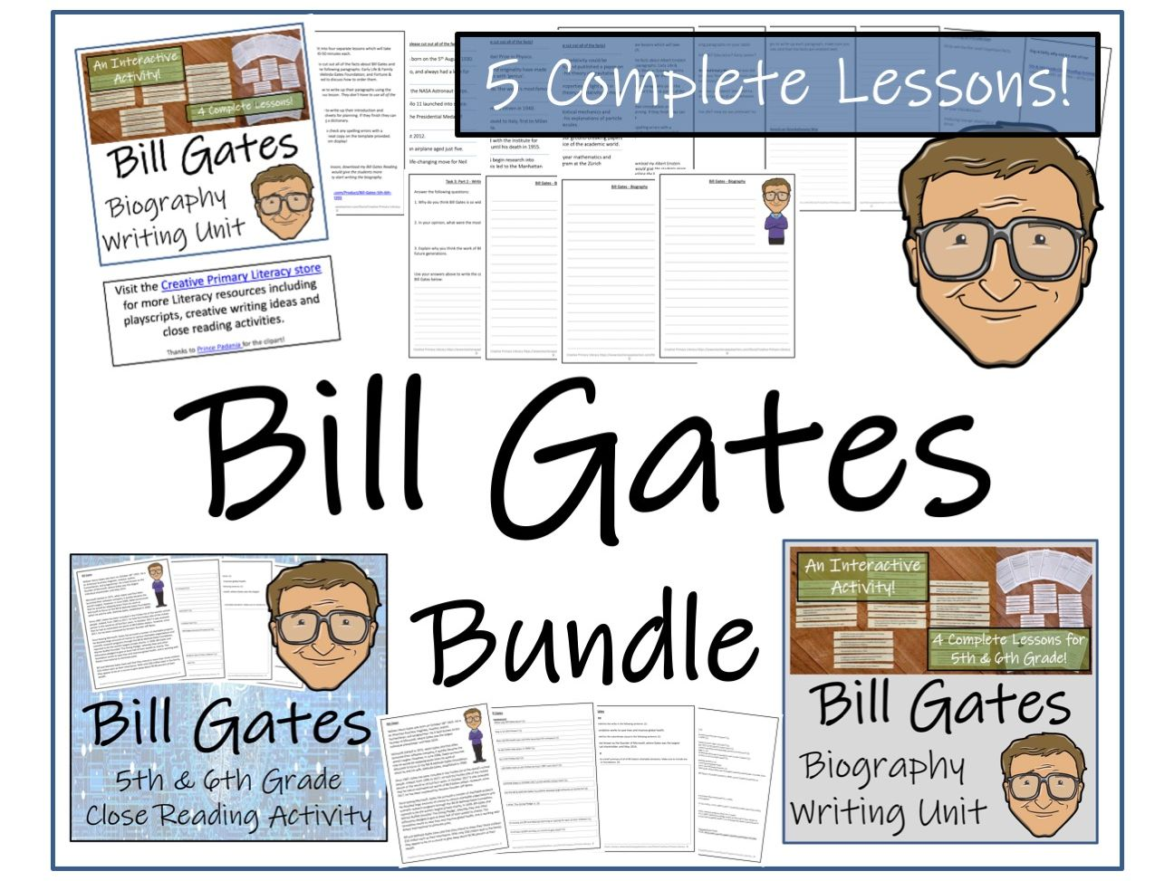 UKS2 Literacy - Bundle of Bill Gates Activities