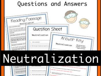 Neutralisation Equations