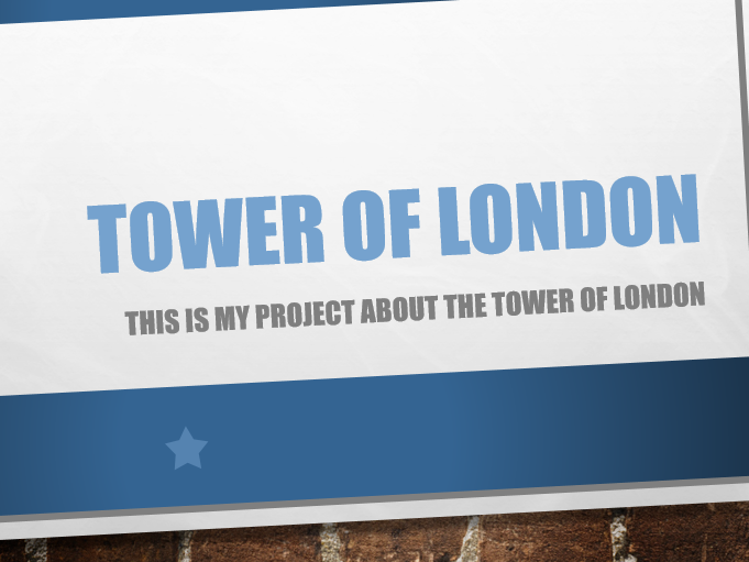 Tower of London Powerpoint
