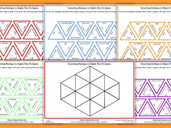 Converting between Analogue and Digital Time Tarsia Game