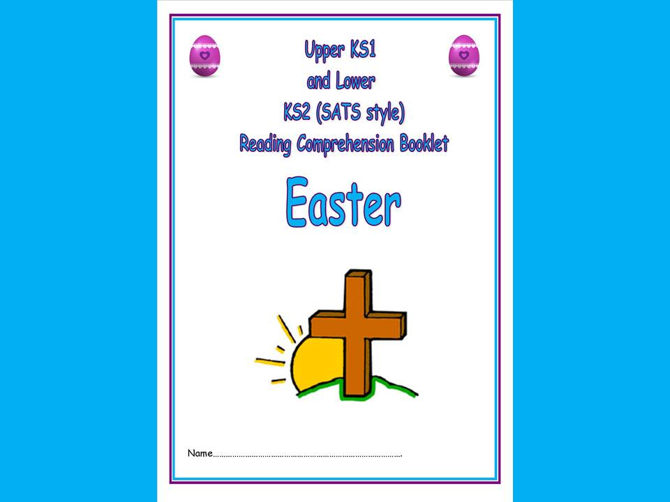 KS1/LKS2 SATs style reading comprehension booklet based on Easter