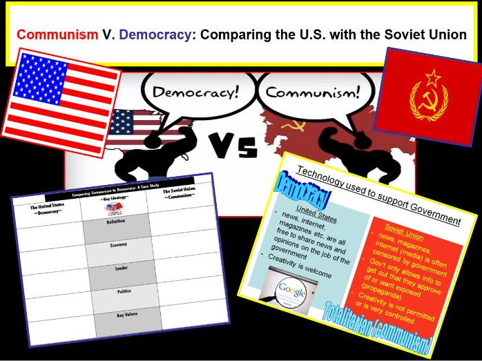 a comparison of democracy and communism Defining communism and socialism to better understand the slippery distinctions between communism and socialism, let's trace the history of both terms communism communism traces its roots to the communist manifesto, an 1848 pamphlet by karl marx and friedrich engels.