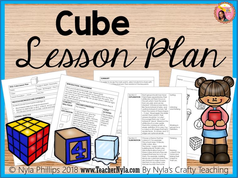 Cube Lesson Plan