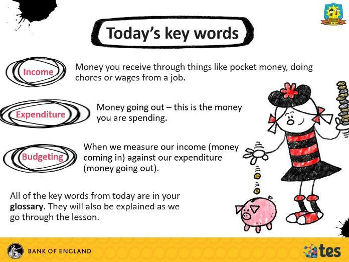Lesson 9 Money and me - Managing my money (Scottish curriculum)