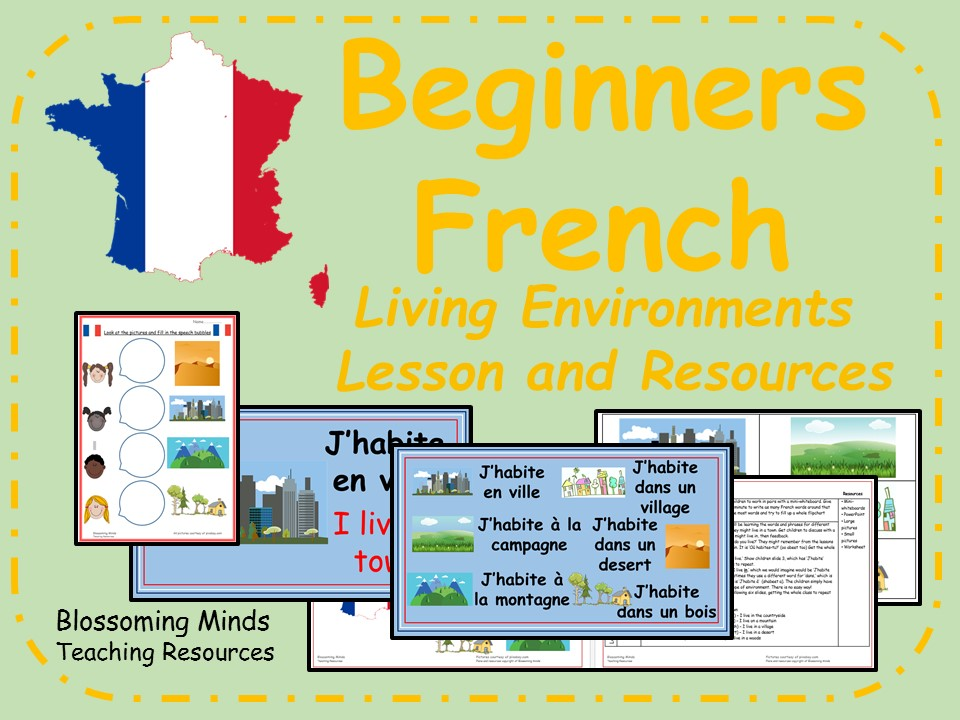 French lesson and resources - KS2 - Where I live