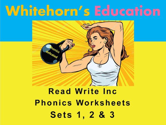 Speed Sounds - Set 1, 2, 3 - Phonics Worksheets - Read Write Inc