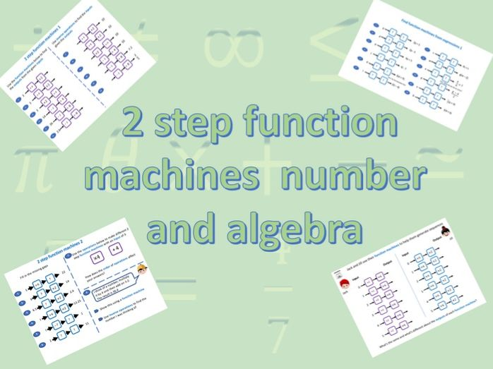 Function machines 2 step number and algebra