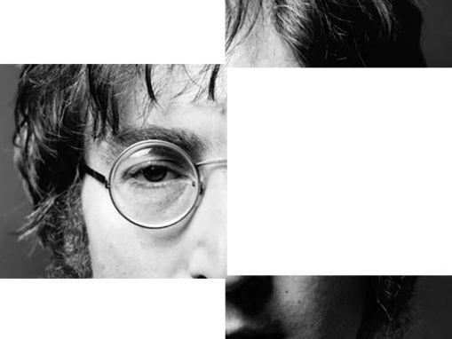 John Lennon Symmetry Drawing