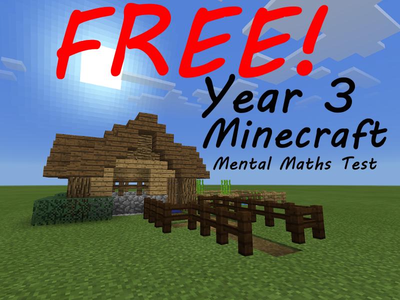 FREE Year 3 Week 1 Minecraft Mental Maths Test