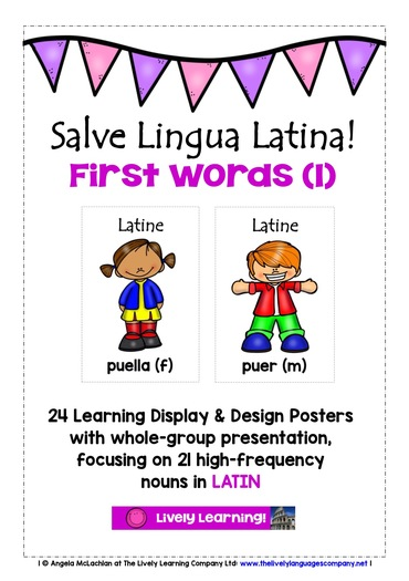 PRIMARY LATIN - 48 LOOK, READ, LABEL & LEARN POSTERS (1) WITH READING ACTIVITY