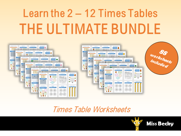 The Ultimate Times Table Worksheet Bundle