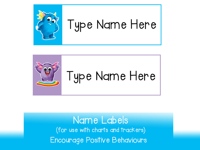 Cute Student Name Labels | Just type in names and print