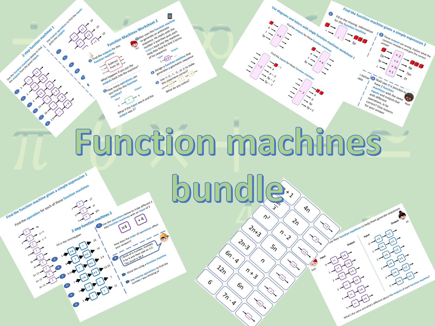 Function Machines bundle