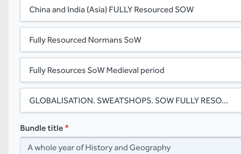 A whole year of History and Geography