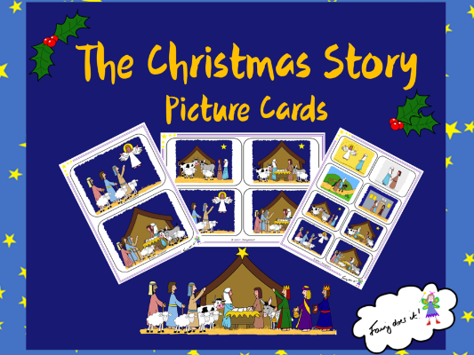 The Christmas Story - Retell the Story Picture Cards