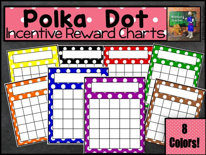 Polka Dot Sticker Charts - Bright
