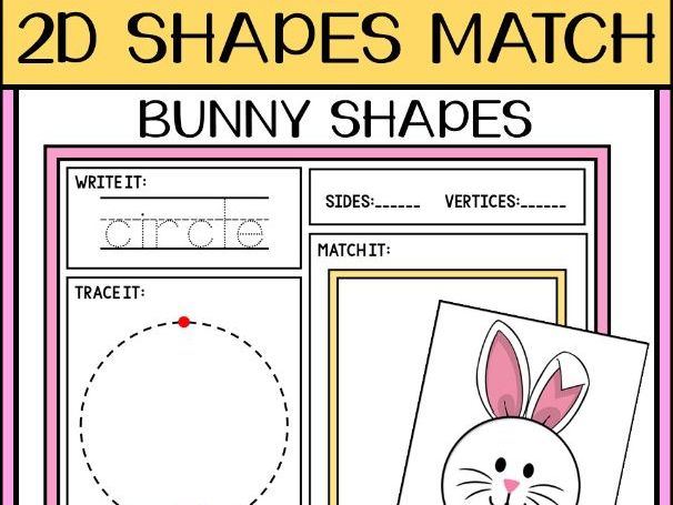Spring 2D Bunny Shapes Matching Activity