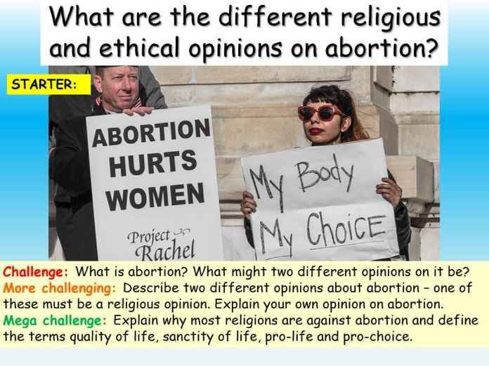Abortion : Religion + Pro-Life / Pro-choice