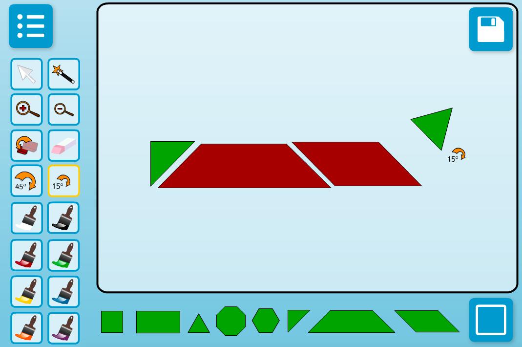 Shape Combiner Interactive Activity - KS1 Geometry