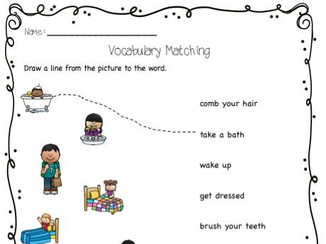 Routines and Everyday actions - ESL unit and emergent reader