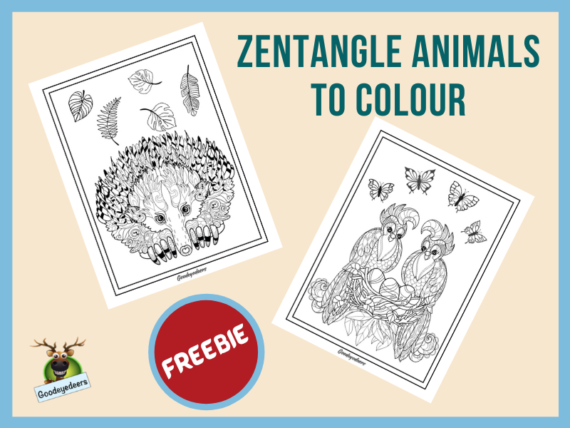 Zentangle Animals to Colour