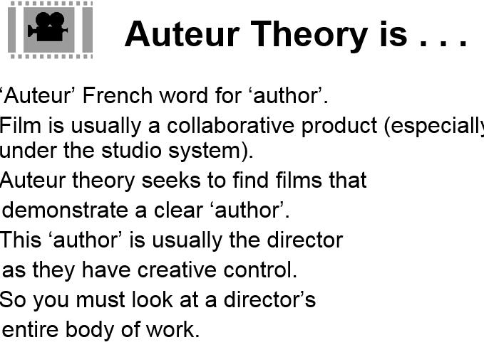Auteur Theory Presentation