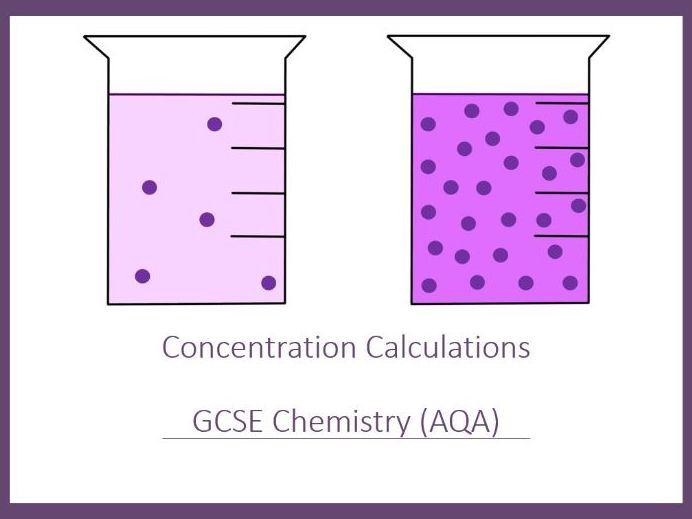 Concentration Calculations Slides and Worksheet (GCSE Chemistry AQA)