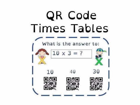 Multiplication 3X Tables QR Code