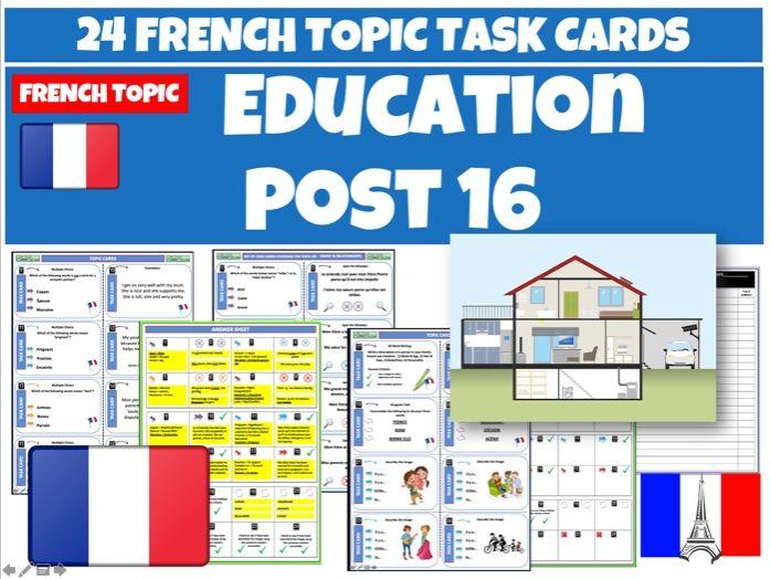French GCSE Post 16 Education