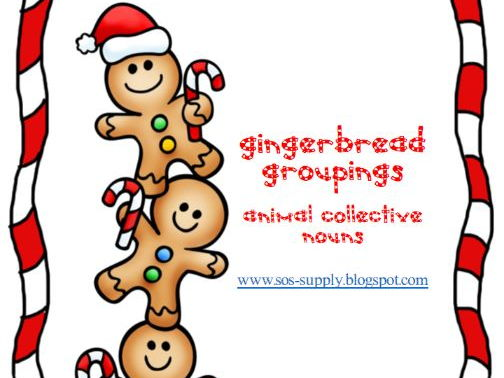 Collective Nouns - Gingerbread Grouping