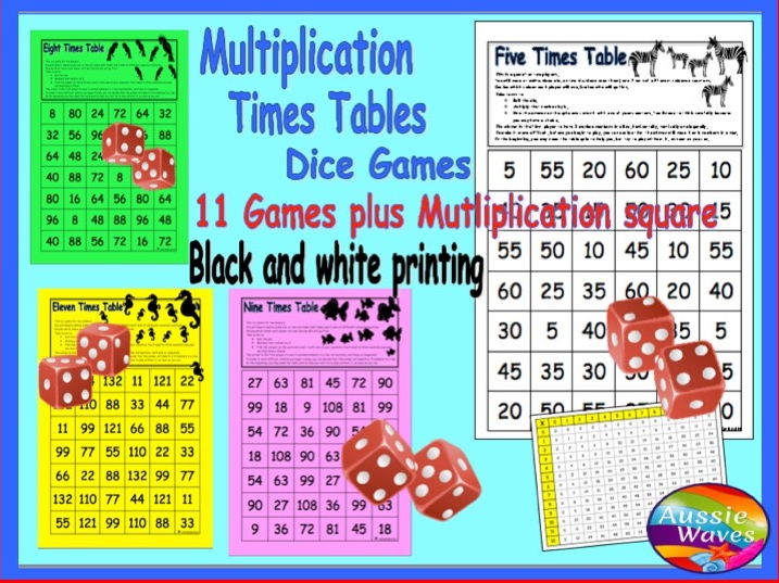 Aussie waves 39 shop teaching resources tes - Multiplication table games online free ...