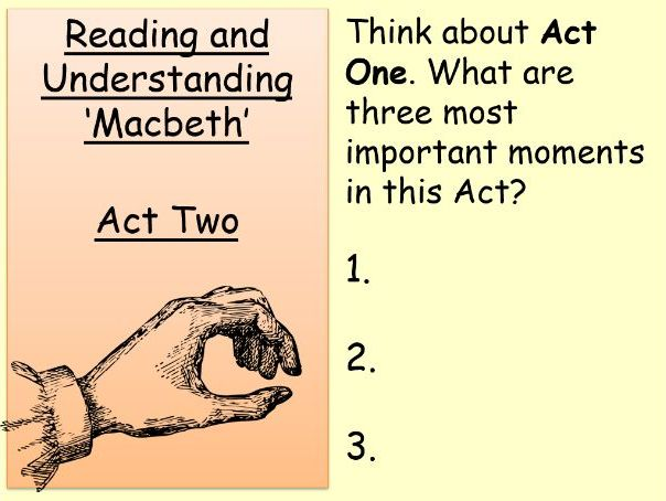 Macbeth: Act 2 for Lower Ability