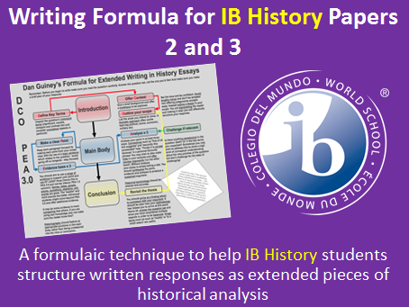 IB History Writing Formula for Papers 2/3