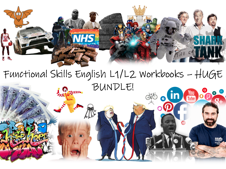 Functional Skills English L1/L2 Workbooks - HUGE BUNDLE!