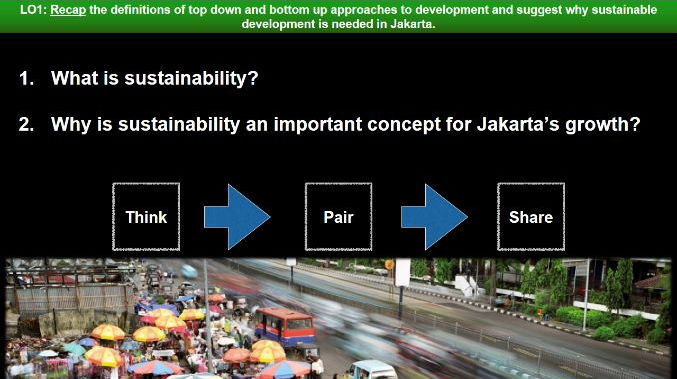 Edexcel B Geography - Development Dynamics - Case Study: Jakarta (Indonesia) - Lesson Five - Top Dow