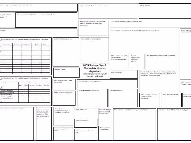 iGCSE Edexcel 9-1 Section A Chemistry Biology Chpt 1&2 Revision Mat Broadsheet Bundle