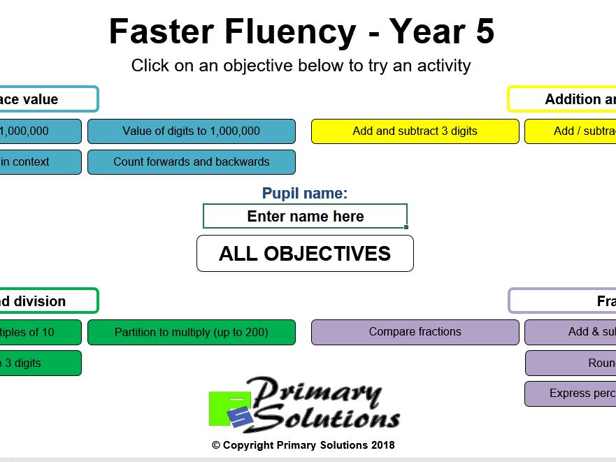 Faster Fluency - Year 5