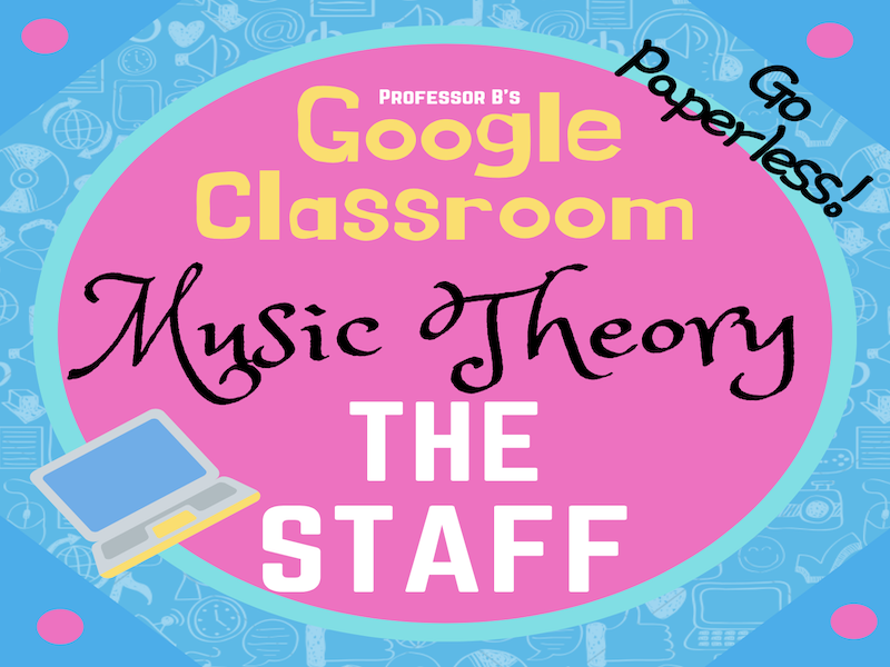 GOOGLE CLASSROOM - Music Theory - The Staff DISTANT LEARNING