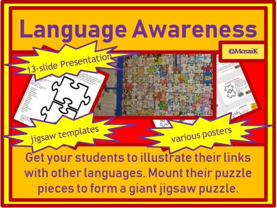EDL, European Day of Languages, Language Awareness, Mother Tongue Day - Jigsaw Project Activity