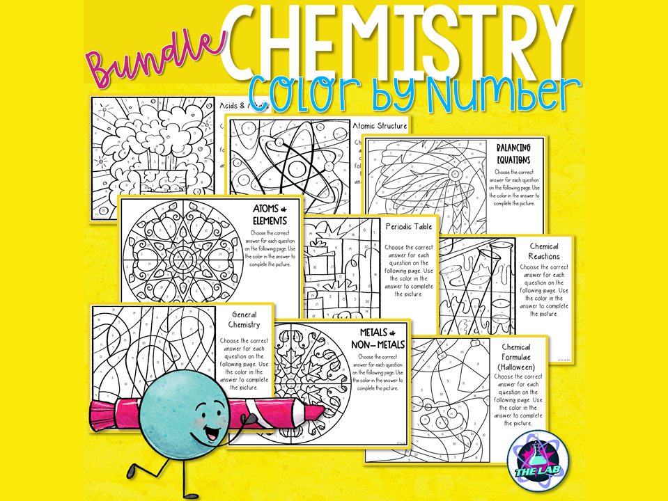 Chemistry Colour by Number Bundle