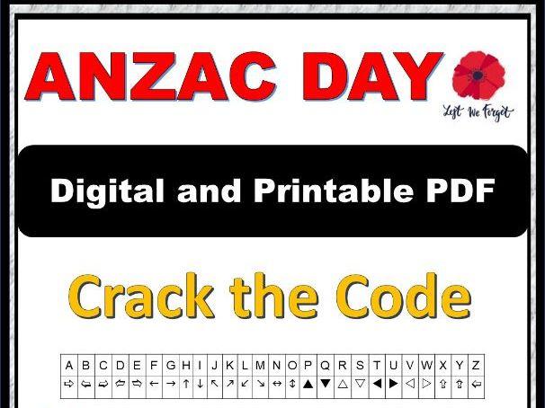 ANZAC Crack the Code Activity