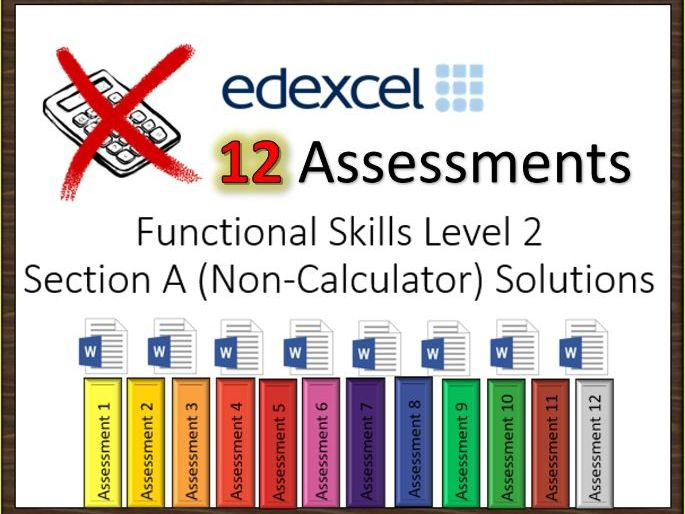 Section A  Functional Skills Level 2 Assessments