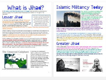 Islam: What is Jihad? Differentiated Information and Activity Sheets