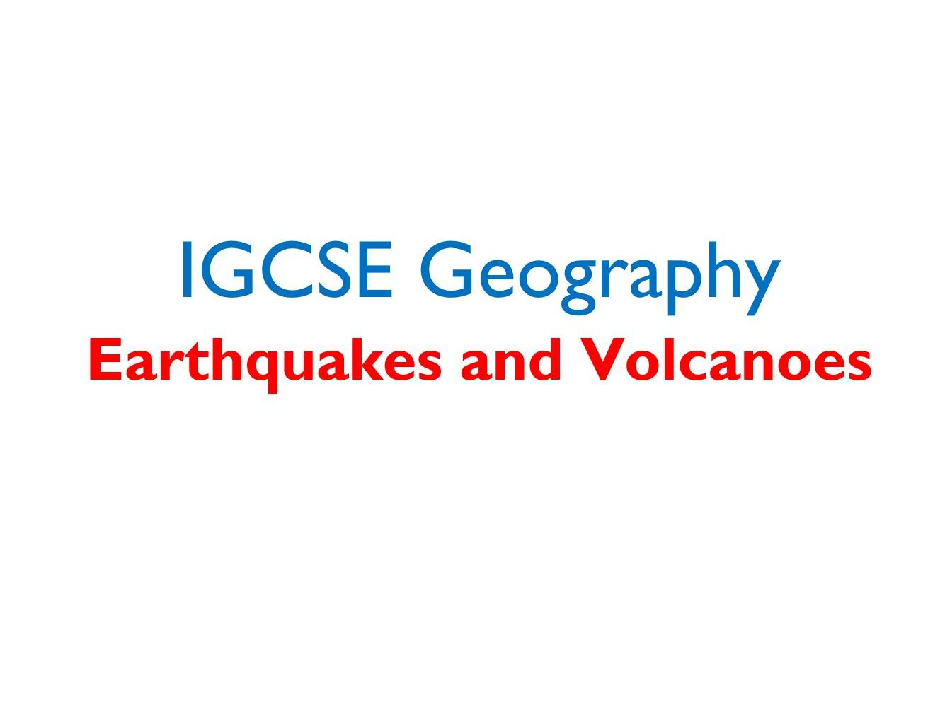 IGCSE Geography - Tectonics - Full Set of Revision Booklets
