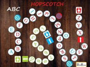 ABC Floor Path Set / Printable floor design for Nursery, Alphabet Hopscotch